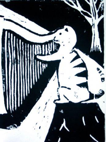 Katze-mit-Harfe